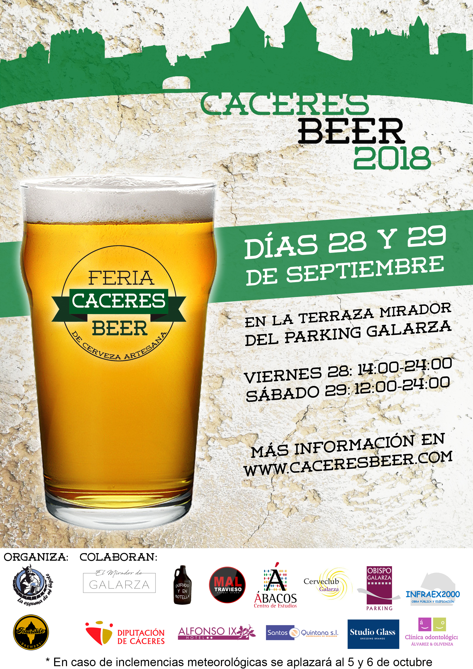 Cartel Cáceres Beer